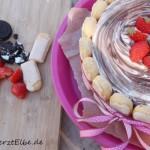Ricotta-Eistorte mit DIY Kuchenständer