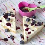 Ich mach heute Blau | White Chocolate Cheesecake mit Blaubeeren