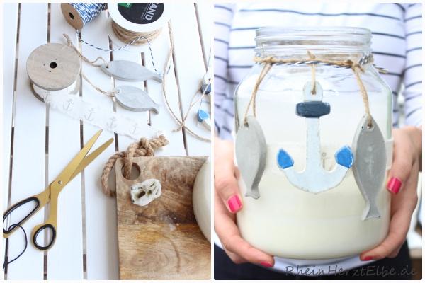 Windlicht maritim DIY Idee Rheinherztelbe