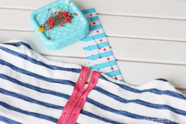 DIY Upcycling Sweatshirt Reissverschluss rheinherztelbe 5