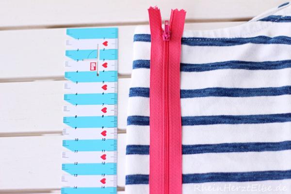 DIY Upcycling Sweatshirt Reissverschluss rheinherztelbe 7