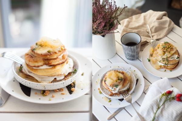 Pancakes Apfel-Birnen-Kompott Rheinherztelbe