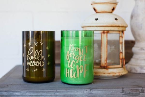 Kerzenlicht DIY Handlettering rheinherztelbe