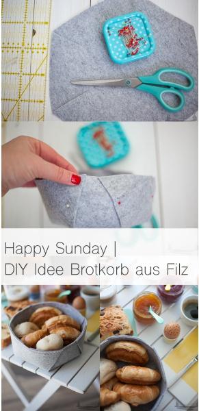 Happy sunday | DIY Idee Brotkorb aus Filz rheinherztelbe
