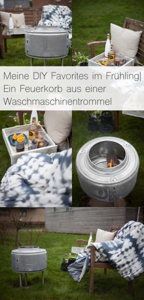 Meine DIY Favorites im Frühling| Ein Feuerkorb aus einer Waschmaschinentrommel, Kuscheldecken in Batikoptik, sowie heißer Sangria