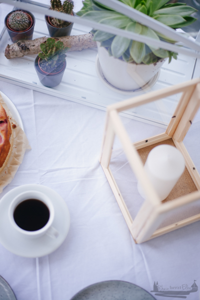 Rheinherztelbe Von Kuchen und Kerzenschein | DIY Idee Windlicht aus Bilderrahmen