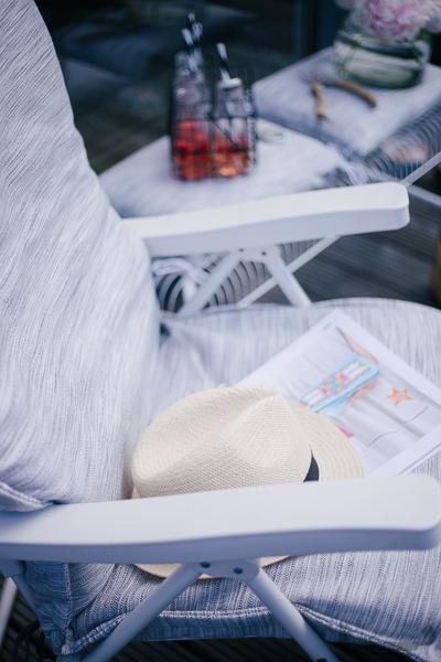Rheinherztelbe Einfach zum Wohlfühlen | DIY Idee Sitzbezug Gartenstuhl