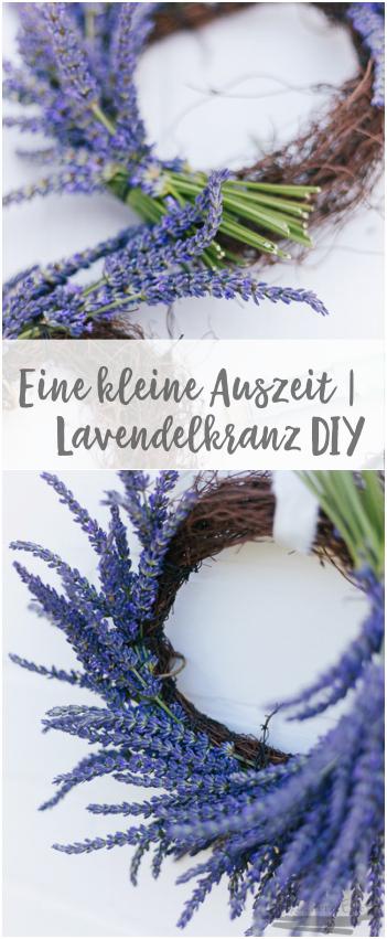 Eine kleine Auszeit | Lavendelkranz selber machen