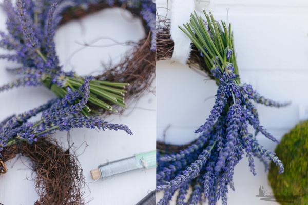 eine kleine Auszeit | Lavendelkranz DIY