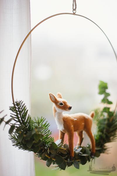 Draußen vom Walde - DIY Idee Fensterdeko im Advent Rheinherztelbe