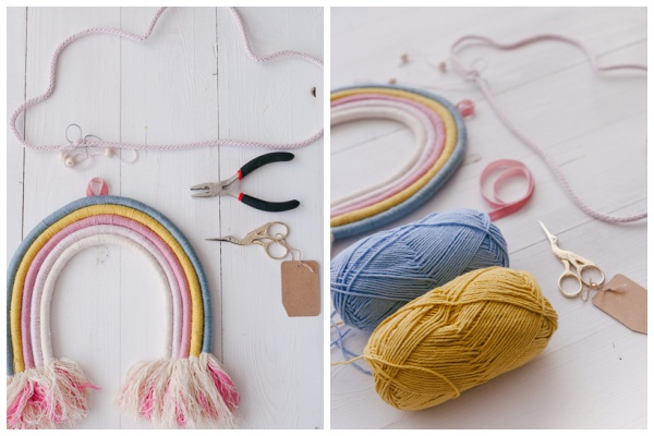 Von Strickwörtern und Regenbögen | DIY Deko Ideen mit Wolle