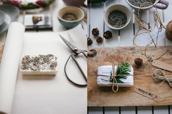 DIY Advent seife lavendel hafer rheinherztelbe