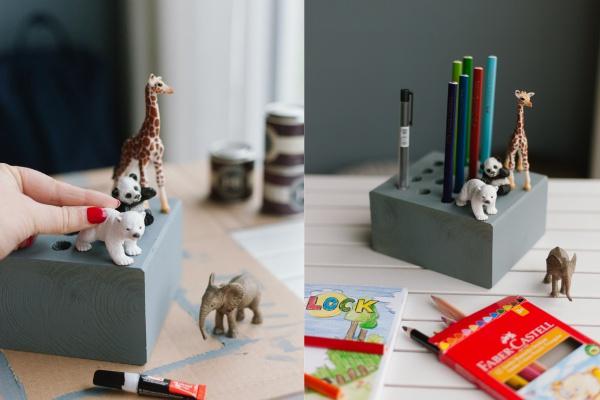 Geschenkidee für Kinder | DIY Idee Stiftehalter aus Holz
